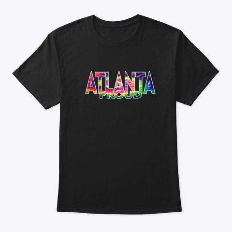 Atlanta Proud Black T-Shirt Front