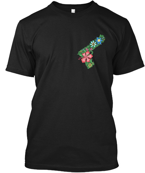Gun Flower Shirt Black T-Shirt Front