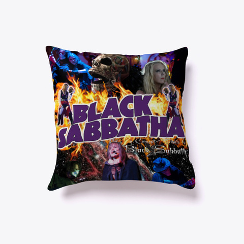 Black Sabbatha First Series Pillow Dark Grey T-Shirt Back