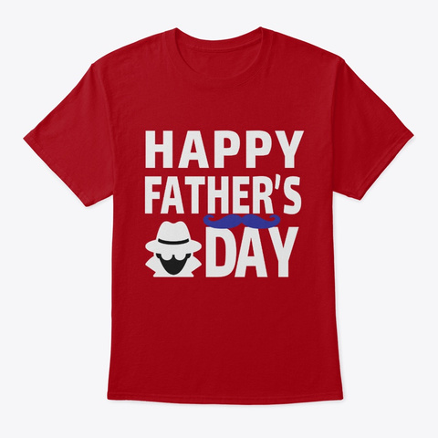 Happy Father's Day 2020,Face Mask Design Deep Red T-Shirt Front