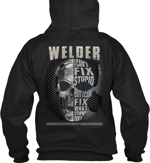 Welder Hoodie Holiday Special Black T-Shirt Back