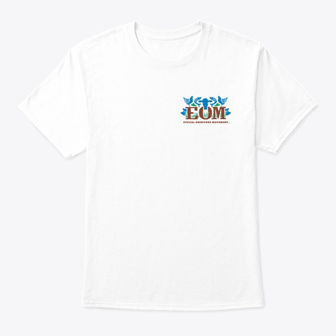 Eom Coloured Logo Only White T-Shirt Front