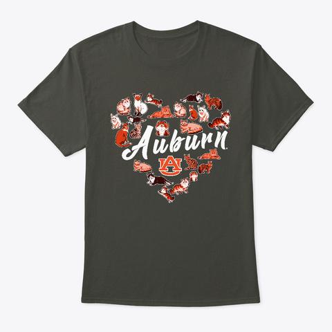 Auburn Tigers Heart Of Cats Apparel Smoke Gray T-Shirt Front