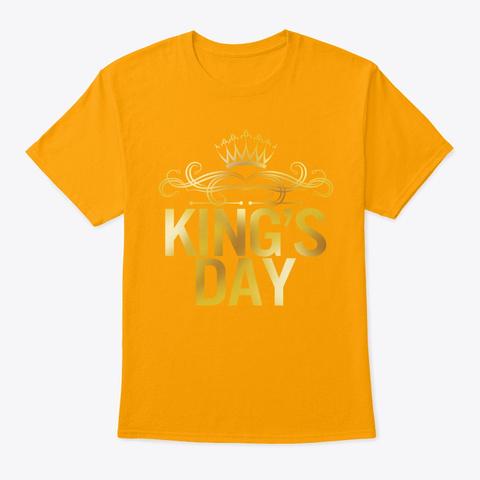King's Day Netherlands Orange Gold Gold T-Shirt Front