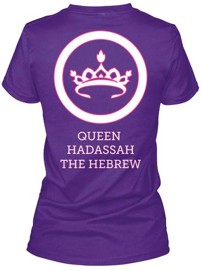 Queen Hadassah The Herbrew Purple T-Shirt Back