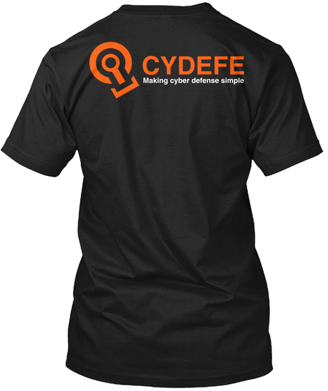 Cydefe Making Cyber Defence Simple Black T-Shirt Back
