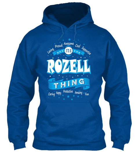 Name Rozell Christmas Weather Royal T-Shirt Front