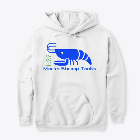 Marks Shrimp Tanks White Sweatshirt Front