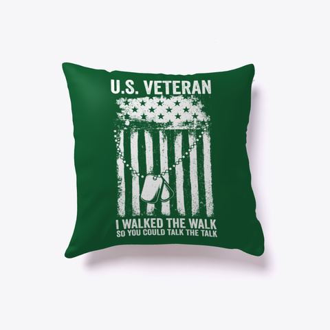 U.S. Veteran Walked The Walk Dark Green T-Shirt Front