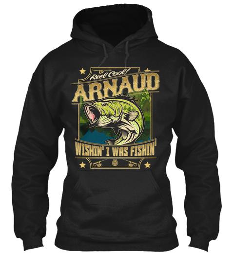 Arnaud Fishing Gift Black T-Shirt Front