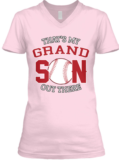 That's My Grand Son Out There Pale Pink T-Shirt Front