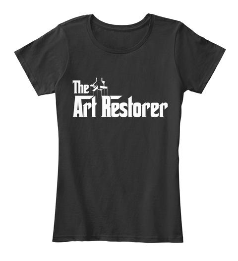The Art Restorer Black T-Shirt Front
