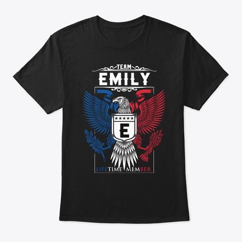Team Emily Lifetime Member | Emily Black T-Shirt Front
