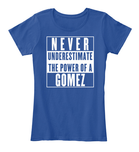Gomez This Is My Power. Deep Royal  T-Shirt Front