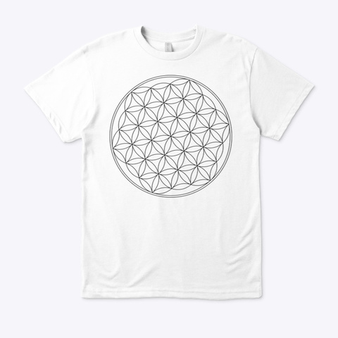 Flower Of Life Conscious White T White T-Shirt Front