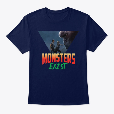 Kong Skull Island03 Navy T-Shirt Front