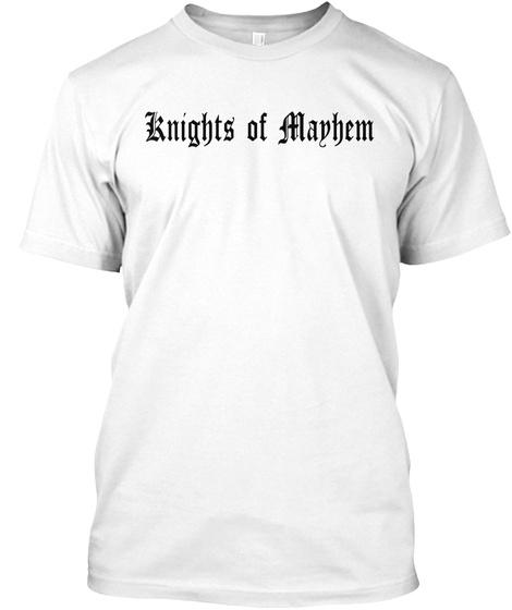 Knights Of Manhem White T-Shirt Front