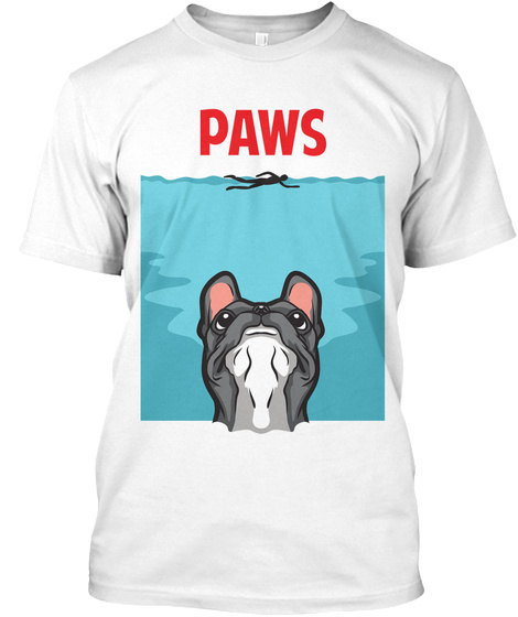 Paws White T-Shirt Front