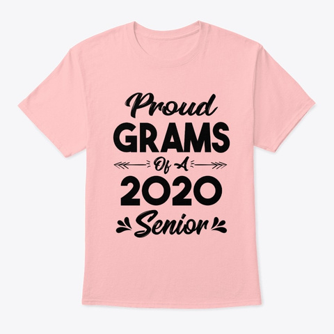 Proud Grams Of A 2020 Senior Shirt Pale Pink T-Shirt Front