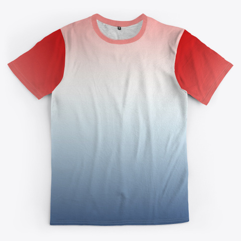 Red White Blue Color Gradient Standard T-Shirt Front