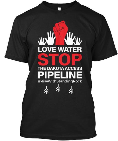 Save Water Save Life Tshirt Black T-Shirt Front