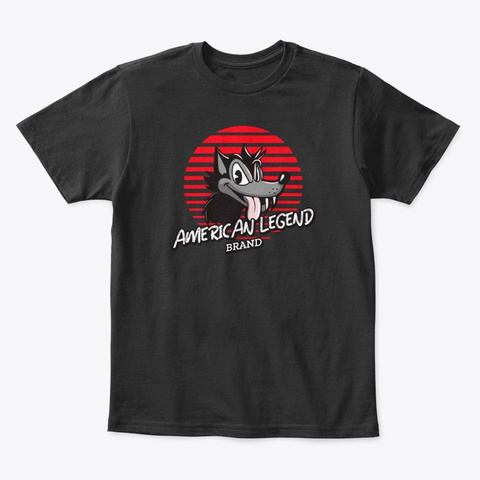 American Legend's  Toon Wolf Apparel Black T-Shirt Front