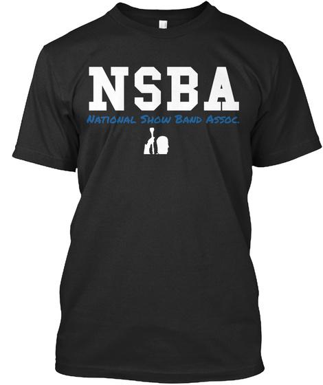 Nsba National Show Band Assoc. Black T-Shirt Front