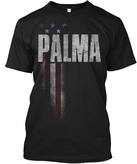Palma Family American Flag Black T-Shirt Front