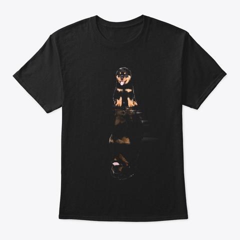 Rottweiler 2 Black T-Shirt Front