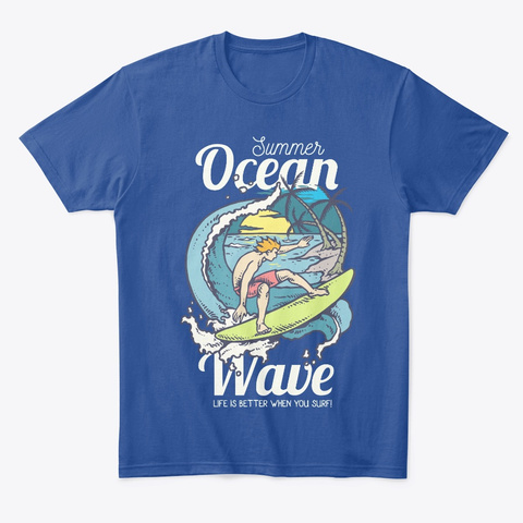 Surfer Deep Royal T-Shirt Front