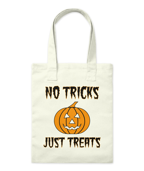 No Tricks Just Treats Natural Tote Bag Front