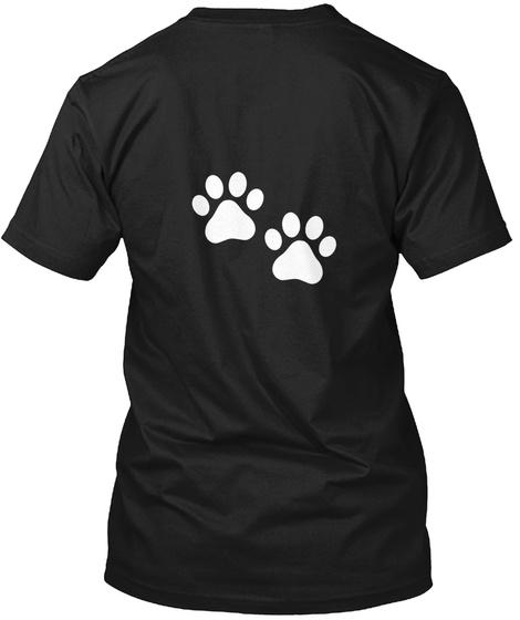 Found A Paw Black T-Shirt Back