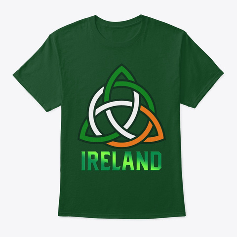 Gaelic Knot Irish Celtic Saint Patrick Deep Forest T-Shirt Front