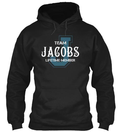 Team Jacobs   Name Shirts Black T-Shirt Front
