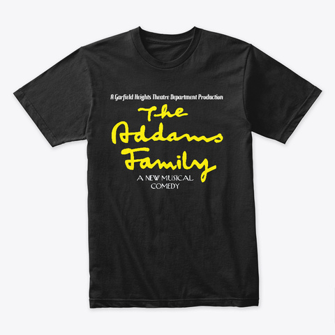 Ghhs 2019 Addams Family Black T-Shirt Front