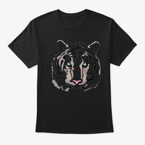 Mens Party Animal Tiger Black T-Shirt Front
