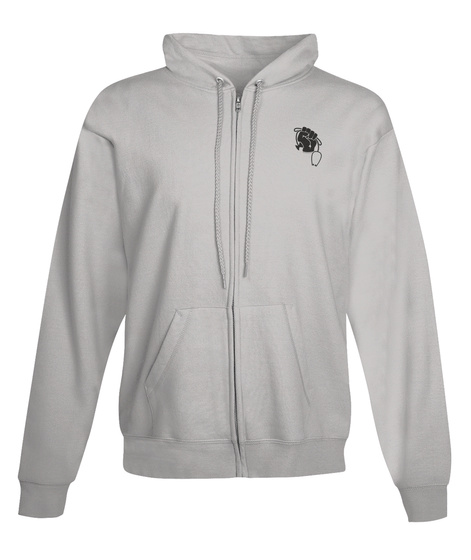 Wcbd Logo Zip Up Hoodie Light Steel T-Shirt Front