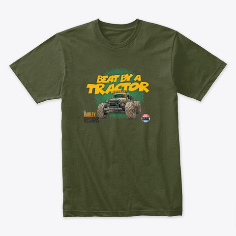 Monthly Mayhem Victory! Military Green T-Shirt Front