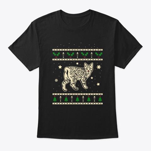 Christmas Manx Gift Black T-Shirt Front