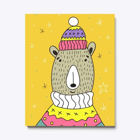 Christmas Bear Yellow T-Shirt Front
