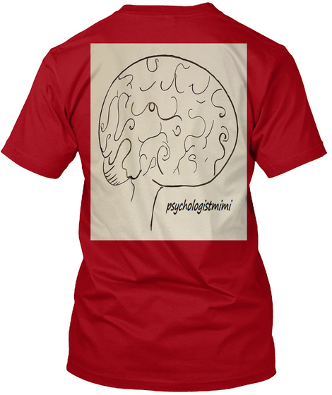 Words Of  Wisdom From Psychologistmimi Deep Red T-Shirt Back