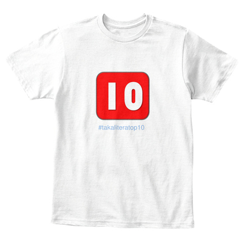 Io #Takaliteratop White T-Shirt Front
