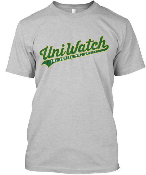 Uniwatch For People Who Get It  Light Heather Grey  T-Shirt Front