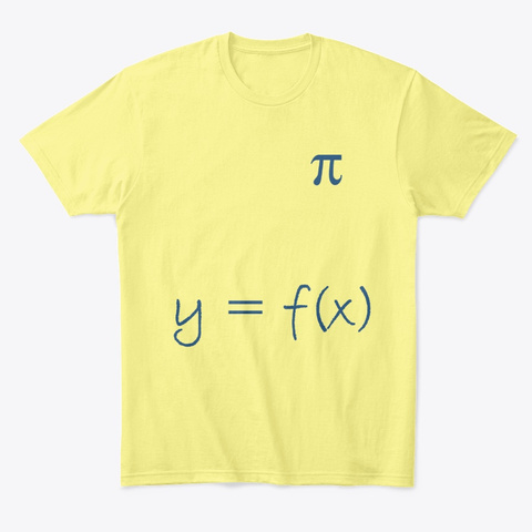 Math Geek T Shirt Lemon Yellow  T-Shirt Front