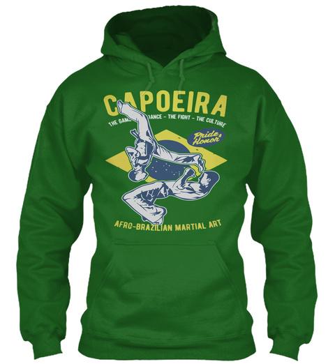 Capoeira Mma Hoodie Irish Green Sweatshirt Front