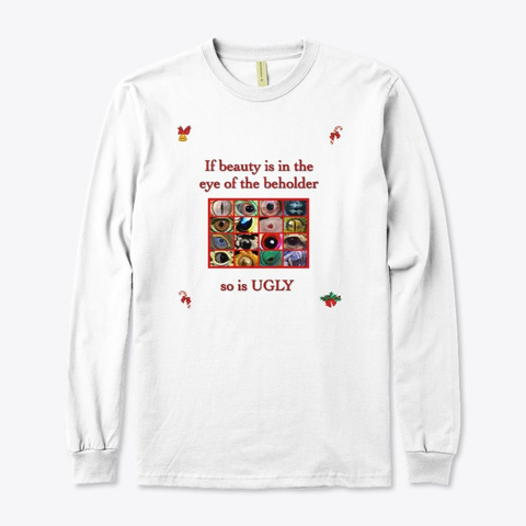 "Herpers ""Ugly"" Christmas Sweater White T-Shirt Front"