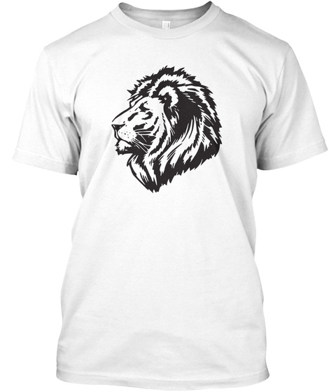 Lion White T-Shirt Front