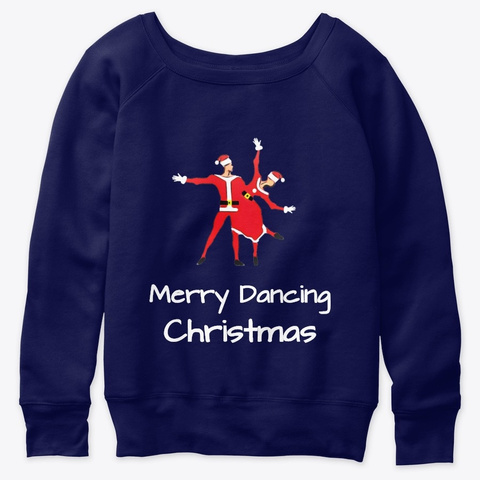 Merry Dancing Christmas  Duet Navy  Camiseta Front