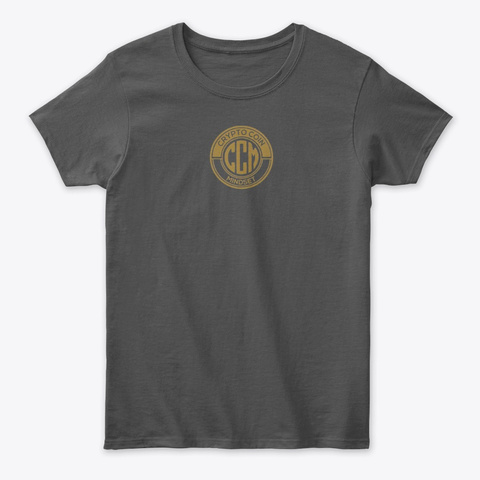 Official Crypto Coin Mind Set Logo Merch Charcoal T-Shirt Front