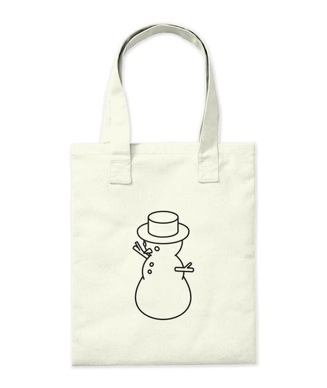 Snowman Tote Bag Natural Camiseta Back